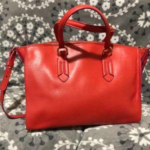 Lauren Ralph Lauren Epi Leather Shoulder Bag